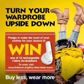 Turn Your wardrobe upside down campaign poster